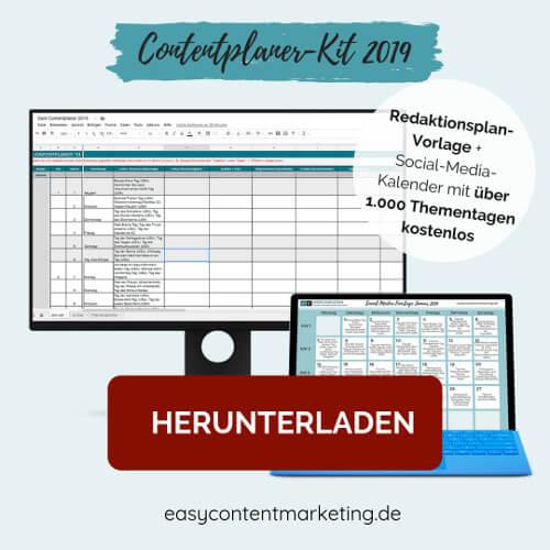 ContentPlaner-Kit 2019 - Gratis-Planungstools für deinen Blog und Social Media