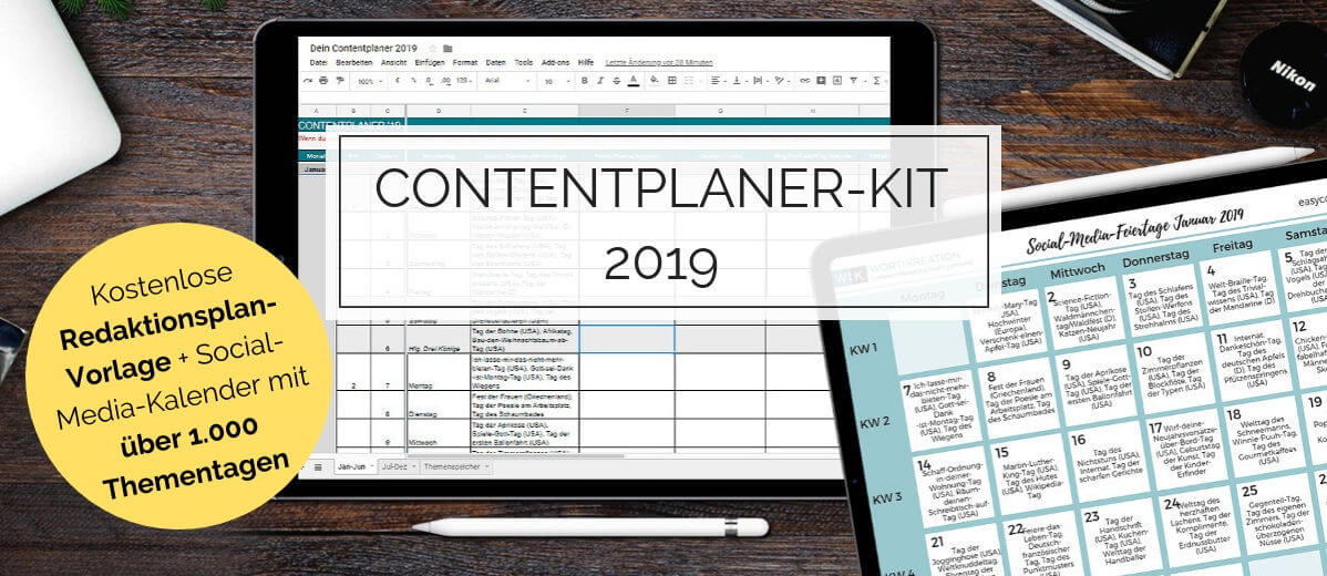 Kostenlose Redaktionsplan-Vorlage und Social-Media-Kalender mit über 1.000 Thementagen
