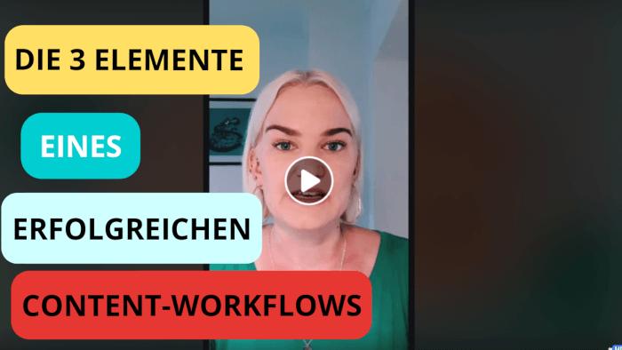 Video - die 3 Elemente eines erfolgreichen Content-Workflows
