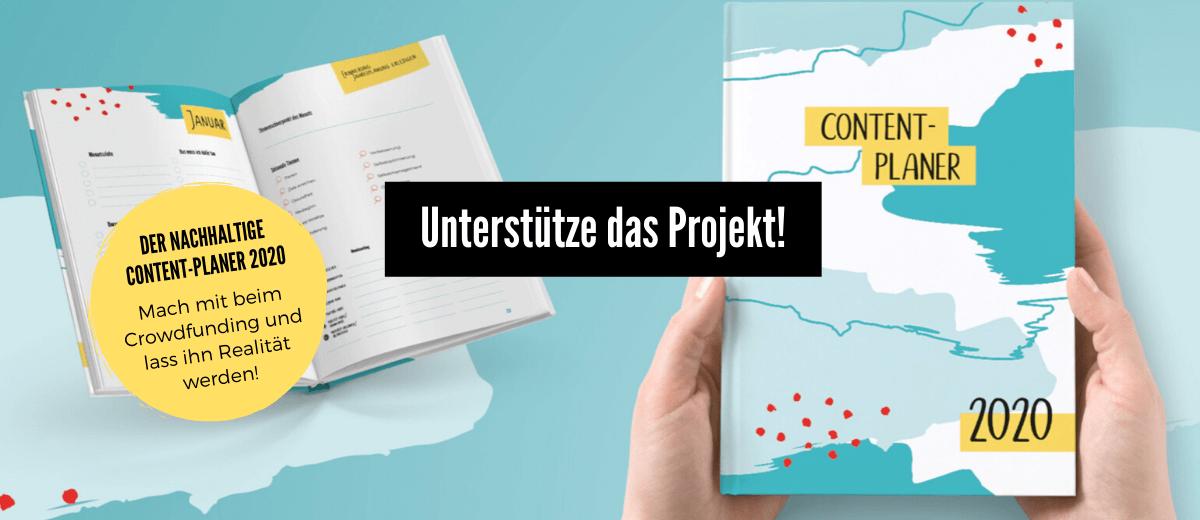 Der nachhaltige Content-Planer - Mach mit beim Crowdfunding und lass ihn Realität werden!
