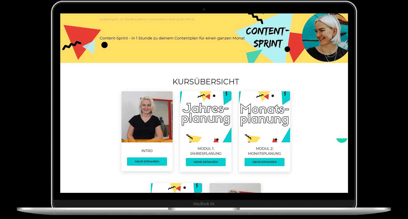 Warteliste Content-Sprint - Online-Kurs zum Thema Content-Planung
