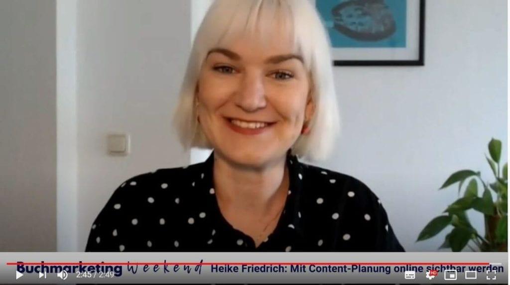 Content-Marketing-Expertin Heike Friedrich beim Buchmarketing Weekend