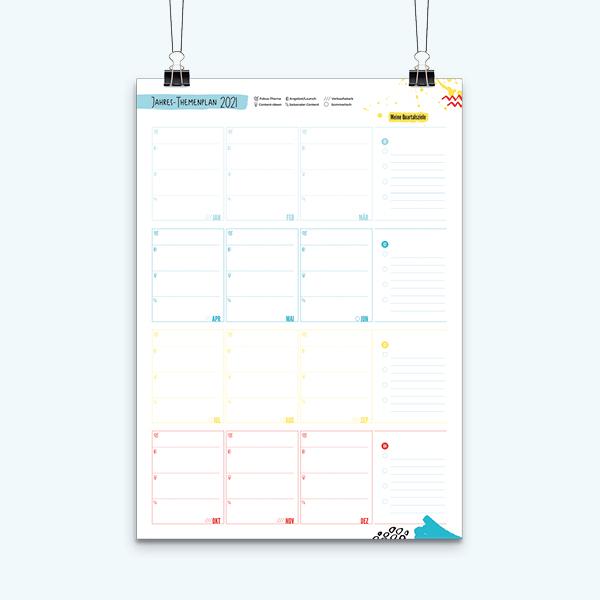 Jahres-Themenplan als Wandplakat