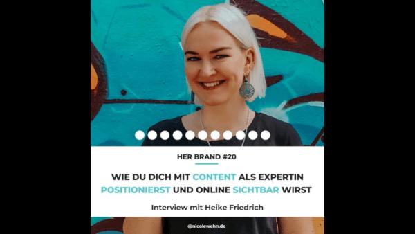 Wie du dich mit Content als Expertin positionierst und online sichtbar wirst - Interview im Her Brand-Podcast