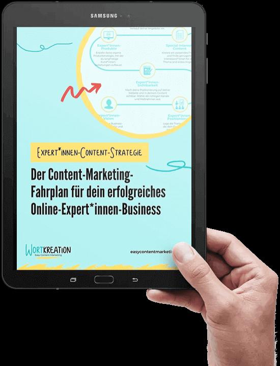 Content-Marketing-Fahrplan für Experten