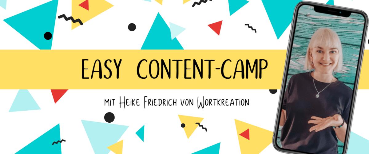 Easy Content-Camp mit Heike Friedrich