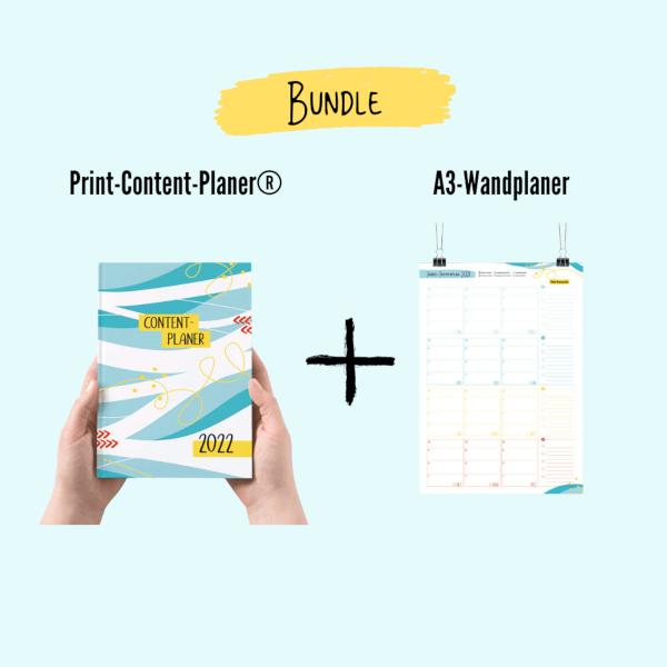 Bundle Print-Content-Planer 2022 + Wandplakat
